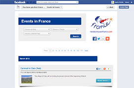 VisitFrance Facebook Events App
